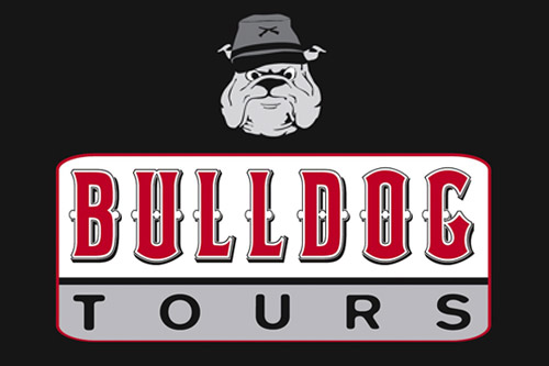 bulldog tours logo black