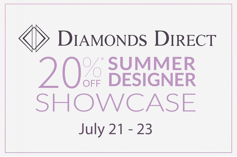 20% Off Summer Designer Showcase at Diamonds Direct